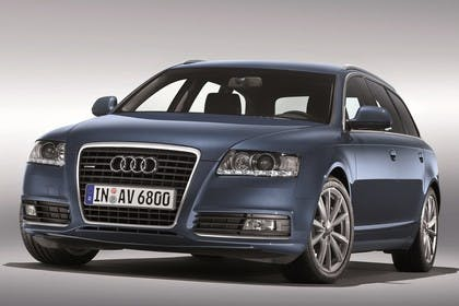 Audi A6 4F Avant Facelift Aussenansicht Front Studio statisch blau