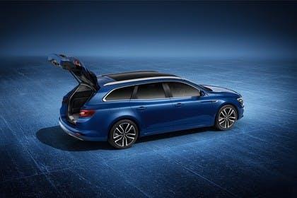 Renault Talisman Grandtourer (RFD) Aussenansicht Seite schräg statisch Studio blau