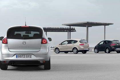 SEAT Altea & Altea XL 5P Facelift Aussenansicht Heck schräg statisch silber gold schwarz