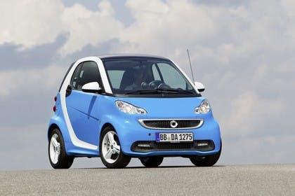 Smart Fortwo C451  Aussenansicht Front schräg statisch blau