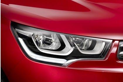 Citroën C4 N Aussenansicht Front schräg statisch Studio Detail Scheinwerfer rechts rot
