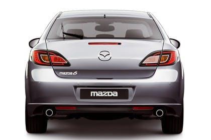 Mazda 6 Limousine GH Studio Aussenansicht Heckstatisch silber