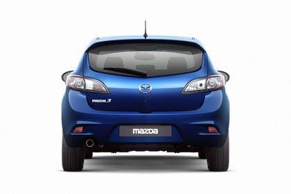 Mazda 3 Fünftürer BL Studio Aussenansicht Heck statisch blau