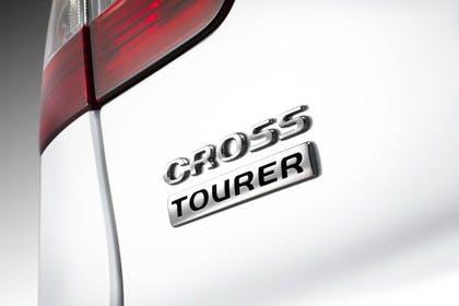 Citroën C5 Cross Tourer R Aussenansicht Heck schräg statisch Studio Detail Cross Tourer Schriftzug weiss