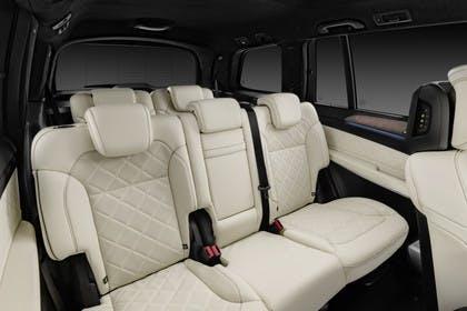 Mercedes-Benz GLS X166 Innenansicht Rücksitzbank Studio statisch beige