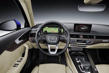 Audi A4 Limousine B9 Innenansicht Fahrerposition Studio statisch beige