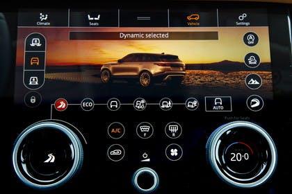 Land Rover Range Rover Velar Innenansicht Detail Multimedia statisch schwarz
