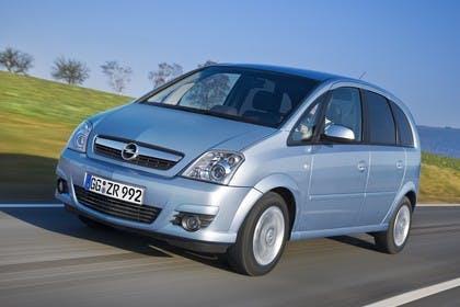 Opel Meriva A Aussenansicht Front schräg dynamisch blau