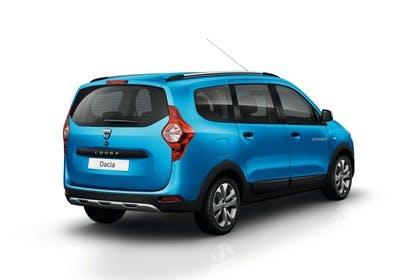 Dacia Lodgy Stepway SD Aussenansicht Heck schräg statisch Studio blau