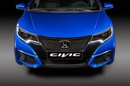Honda Civic 9 Fünftürer Aussenansicht Front statisch blau