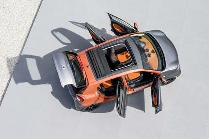 Smart Forfour 453 Aussenansicht Draufsicht statisch orange