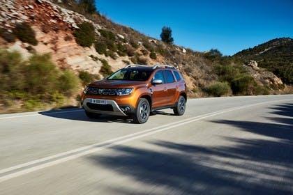 Dacia Duster SR Aussenansicht Front schräg dynamisch orange