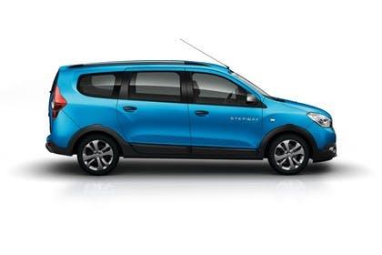 Dacia Lodgy Stepway SD Aussenansicht Seite statisch Studio blau