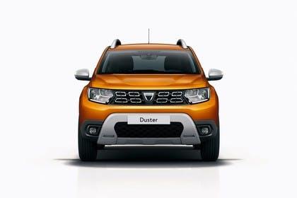 Dacia Duster SR Aussenansicht Front statisch Studio orange
