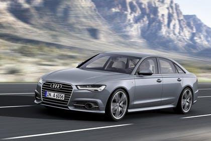 Audi A6 C7 Aussenansicht Front schräg dynamisch silber