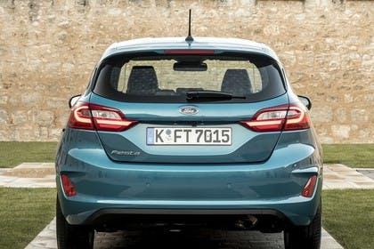 Ford Fiesta JHH Dreitürer Aussenansicht Heck statisch blau