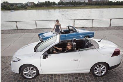 Renault Mégane CC Z Aussenansicht Seite erhöht statisch weiss