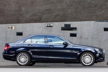 C-Klasse Limousine W204 Aussenansicht Seite statisch schwarz