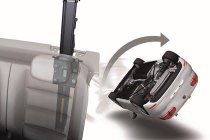 VW Golf 6 Cabriolet Aussenansicht Heck schräg Aufklappüberrollschutz