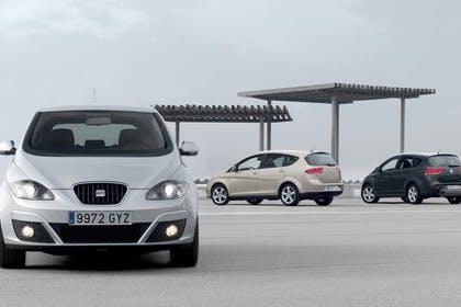 SEAT Altea & Altea XL 5P Facelift Aussenansicht Front Heck schräg statisch silber gold schwarz