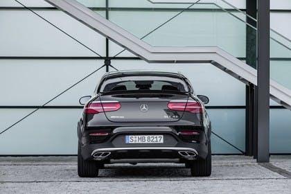 Mercedes GLC Coupe C253 Aussenansicht Heck statisch schwarz