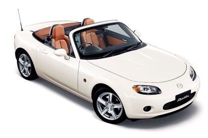 Mazda MX-5 NC Studio Aussenansicht Front schräg statisch weiß