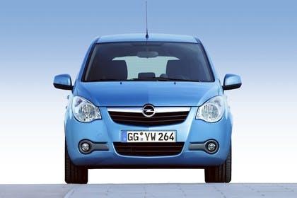 Opel Agila H-B Aussenansicht Front statisch blau