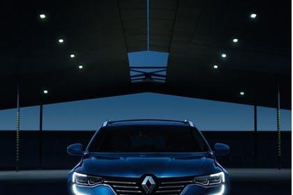Renault Talisman Grandtourer (RFD) Aussenansicht Front statisch blau