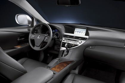 Lexus RX AL1 Studio Innenansicht Beifahrersicht statisch schwarz
