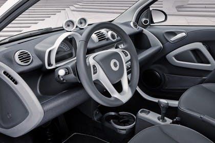 Smart Fortwo C451 Innenansicht Fahrerposition statisch grau