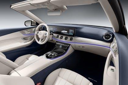 Mercedes-Benz E-Klasse Cabriolet A238 Innenansicht statisch Studio Vordersitze und Armaturenbrett beifahrerseitig