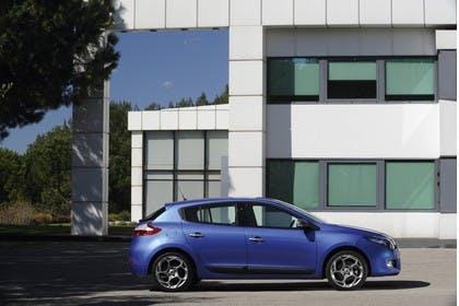 Renault Mégane Z Aussenansicht Seite statisch blau