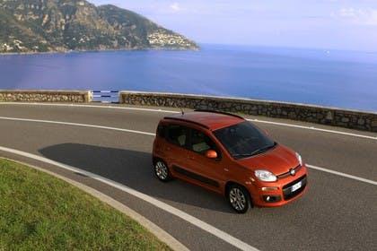 Fiat Panda 319 Aussenansicht Seite schräg erhöht statisch orange
