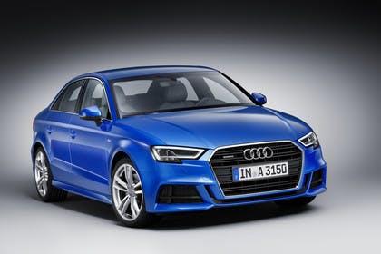 Audi A3 8V Limousine Aussenansicht Front schräg statisch blau