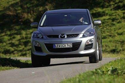 Mazda CX-7 Aussenansicht Front dynamisch silber
