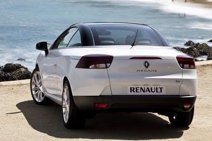 Renault Mégane CC Z Aussenansicht Heck schräg statisch Studio weiss