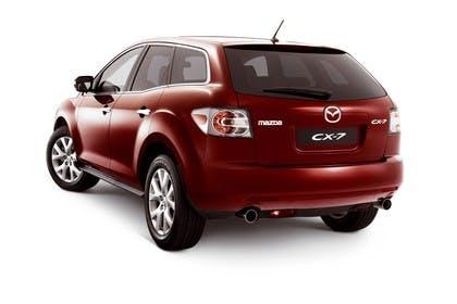 Mazda CX-7 Studio Aussenansicht Heck schräg statisch rot