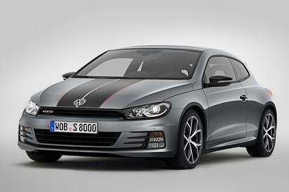 VW Scirocco Typ 13 GTS Aussenansicht Front schräg statisch grau
