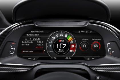Audi R8 Coupe Innenansicht Detail Kombiinstrument statisch schwarz
