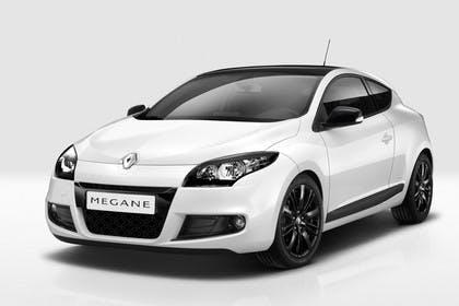 Renault Mégane Coupé Z Aussenansicht Front schräg statisch Studio weiss
