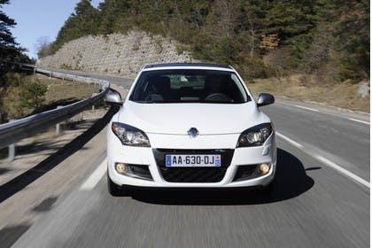 Renault Mégane Coupé Z Aussenansicht Front dynamisch weiss