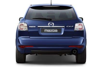 Mazda CX-7 Studio Aussenansicht Heck statisch blau