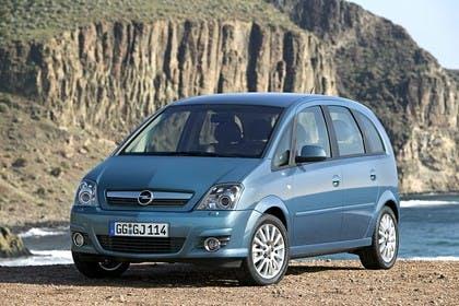Opel Meriva A Aussenansicht Front schräg statisch blau