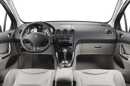 Peugeot 308 Fünftürer Facelift Innenansicht mittig Studio statisch beige