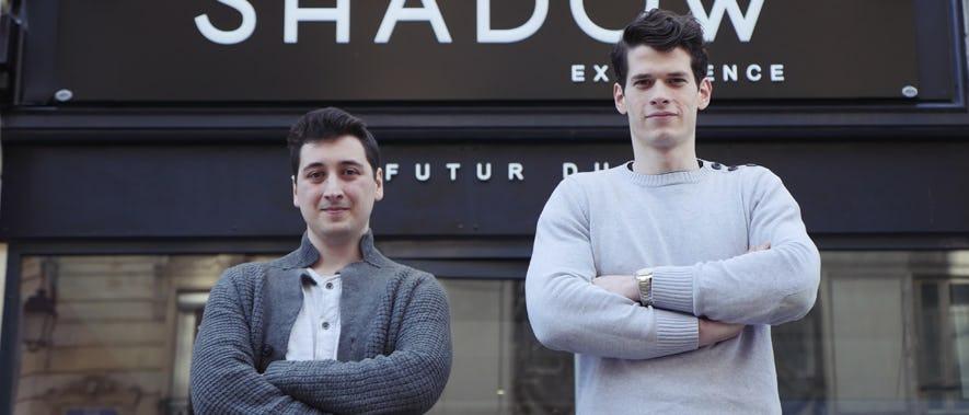 Ari et Jean, l'équipe responsable de la première boutique éphémère Shadow