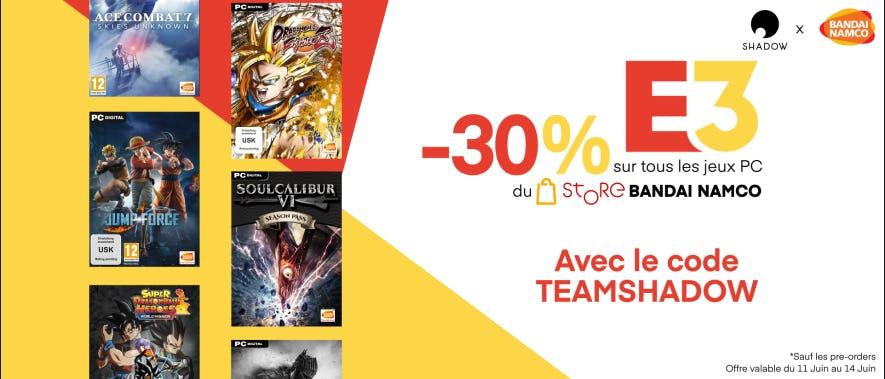 30% de réduction chez Bandai Namco avec notre code !