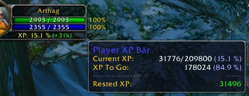 World of Warcraft XP