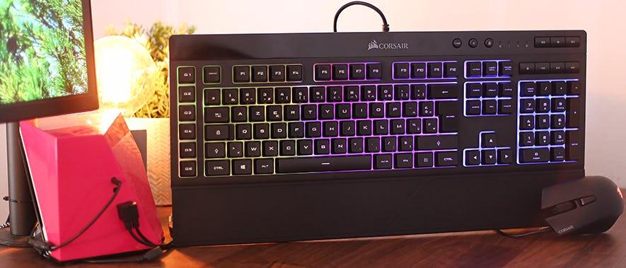 On a testé : la souris Corsair Harpoon RGB et le clavier Corsair K55 RGB