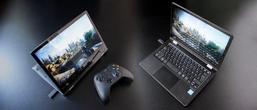 Shadow verwandelt den Aldi Laptop in einen Gaming PC