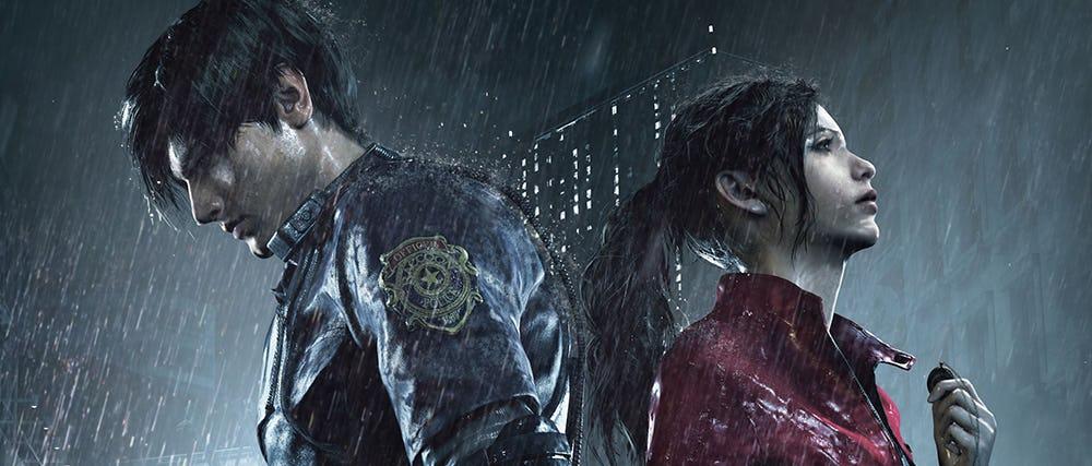 Resident Evil 2 - Banner Leon & Claire